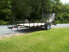 Mike's 6 X 12 Utility Trailer-Rail Sides